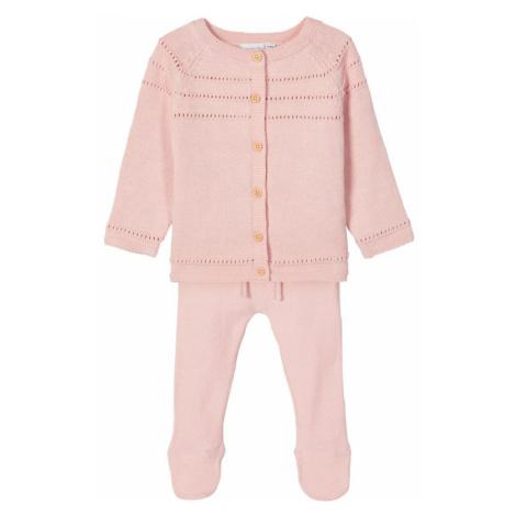 NAME IT Strickjacke Und Hose Geschenk-set Unisex Pink