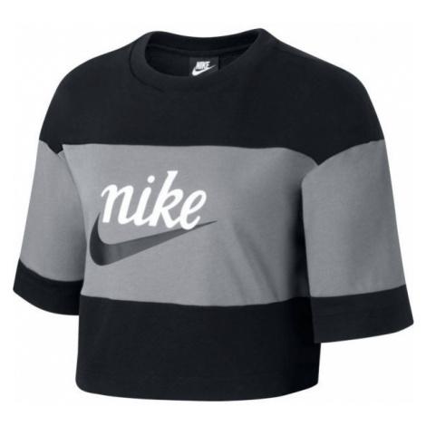 Nike NSW VRSTY TOP SS W grau - Damenshirt
