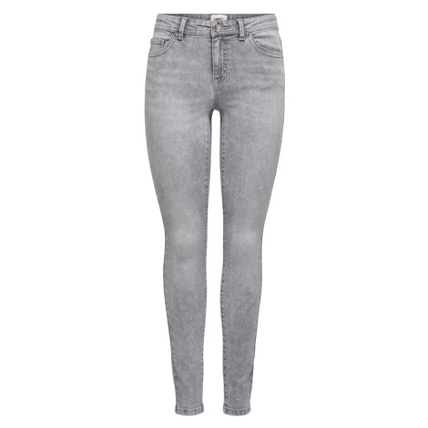 Only Damen Jeans Onlwauw Life Mid Sk Bb Bj694 - Skinny Fit - Grau - Medium Grey Denim