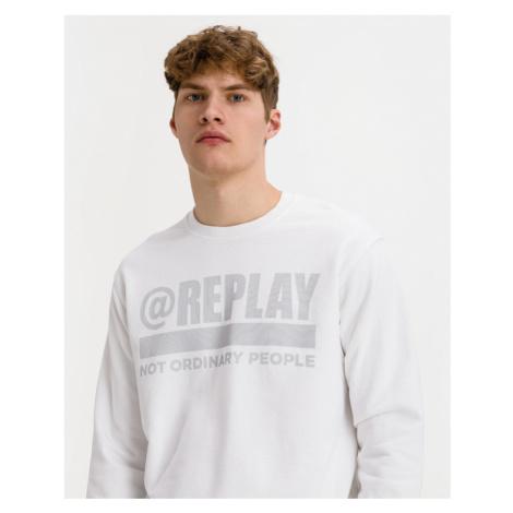 Replay Sweatshirt Weiß