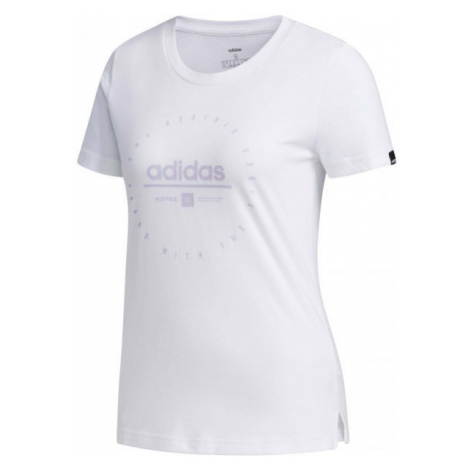 adidas W ADI CLOCK TEE weiß - Damen Shirt