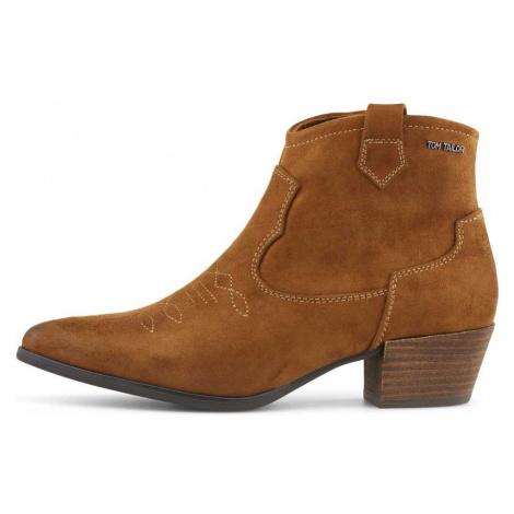 TOM TAILOR Damen Cowboy Ankle Boots, braun