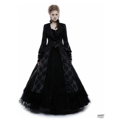 Damen Mantel PUNK RAVE - Black Ruby Gothic ball - WY-844/BK