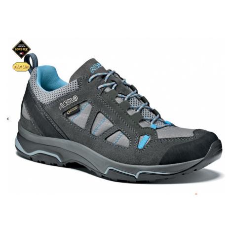 Schuhe ASOLO Megaton GV Graphit / Stein / Cyan blue A788