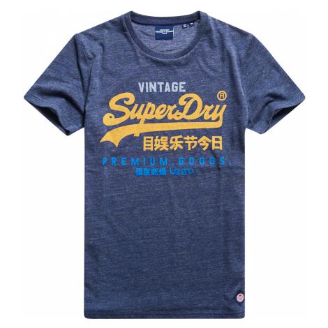 Superdry Herren T-Shirt VL TRI TEE Navy Marl Blau