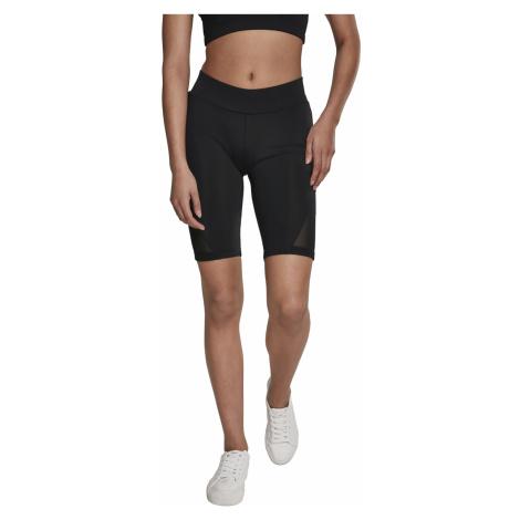 Urban Classics Shorts Damen LADIES TECH MESH CYCLE SHORTS TB2638 Schwarz Black