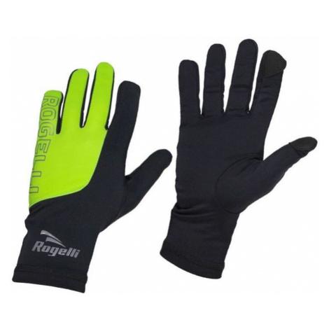 Herren Lauf Winter Handschuhe Rogelli Touch, 890.002. schwarz-reflektierende yellow