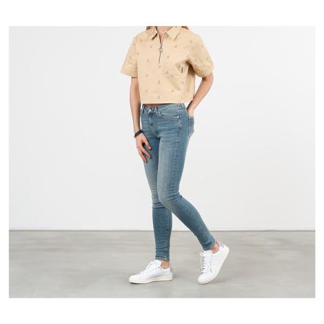 SELECTED Mid Waist Skinny Jeans Medium Blue Denim