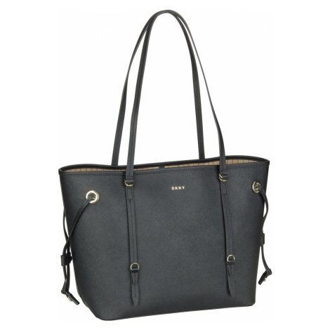 DKNY Handtasche Patricia Saffiano Tote Black/Gold (20.4 Liter)