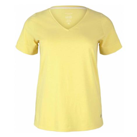 TOM TAILOR MY TRUE ME Damen Curvy - T-Shirt mit Bio-Baumwolle, gelb
