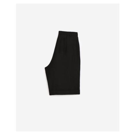 The Kooples - Bermudashorts Wolle schwarz Kettengürtel - HERREN