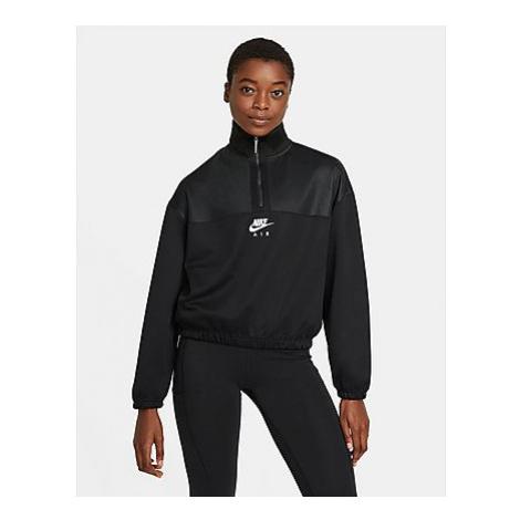 Nike Nike Air Damen-Hoodie mit Viertelreißverschluss - Black/Black/White - Damen, Black/Black/Wh