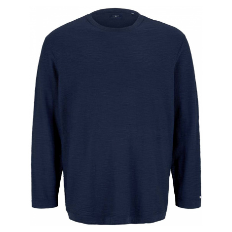 TOM TAILOR Herren Sweatshirt in Melange Optik, blau