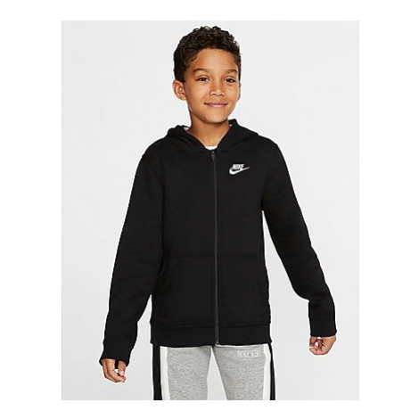 Nike Nike Sportswear Club Older Kinder Full-Zip Hoodie - Black/Black/White - Kinder, Black/Black