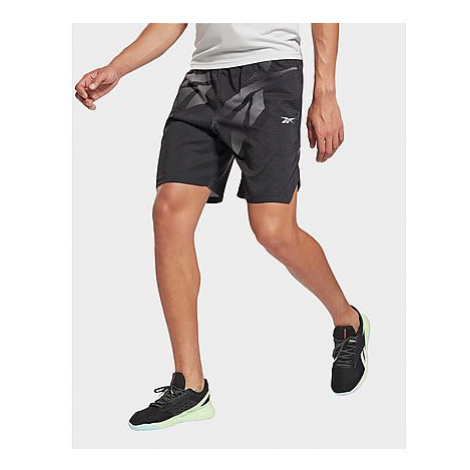 Reebok workout ready allover print shorts - Black - Herren, Black