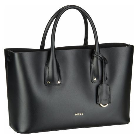 DKNY Handtasche Megan Vachetta Tote Black/Gold (13.2 Liter)