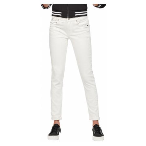 G-Star Damen Jeans D-Staq 5-Pkt Mid Skinny Fit - Weiß - Rinsed G-Star Raw