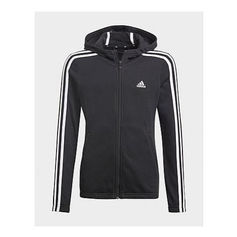 Adidas Essentials 3-Streifen Kapuzenjacke - Black / White, Black / White