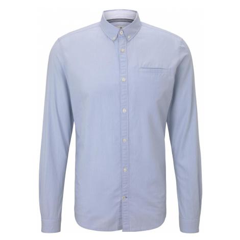 TOM TAILOR Herren Hemd mit Leistentasche im Slim Fit, blau