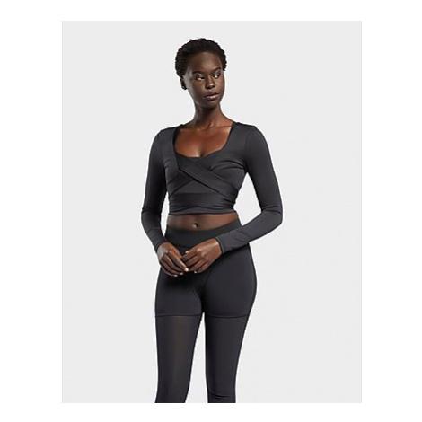 Reebok cardi b long-sleeve crop top - Black - Damen, Black