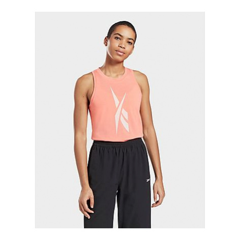 Reebok workout ready supremium big logo tanktop - Twisted Coral - Damen, Twisted Coral