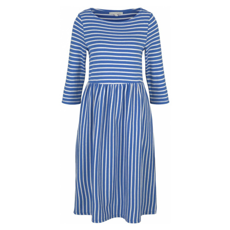 TOM TAILOR DENIM Damen Gestreiftes Jerseykleid, blau