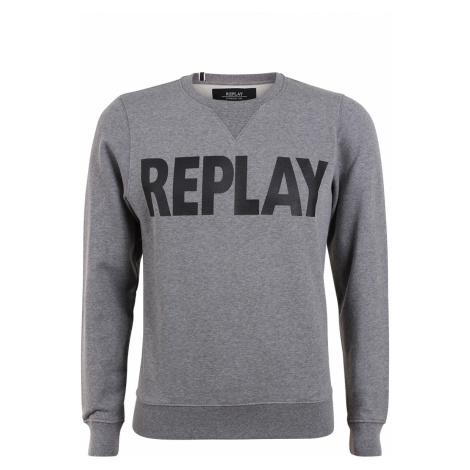 Replay Herren Rundhals-Sweater Mit Frontptint