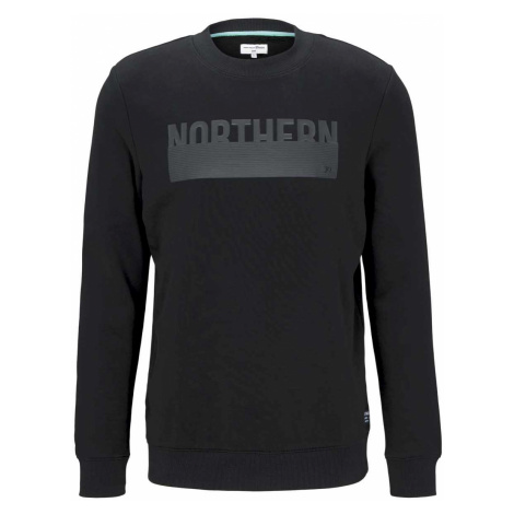 TOM TAILOR DENIM Herren Sweatshirt mit Print, schwarz