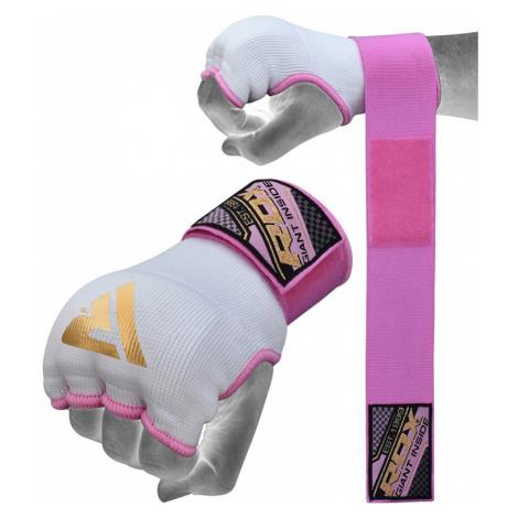 RDX SP Boxen Innenhandschuhe mit Rosa Handgelenkriemen