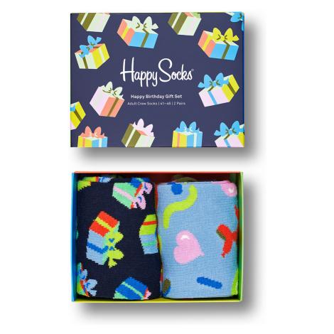 Happy Socks Geschenkbox HAPPY BIRTHDAY SOCKS GIFT SET 2-PACK XBIR02-0200 Mehrfarbig