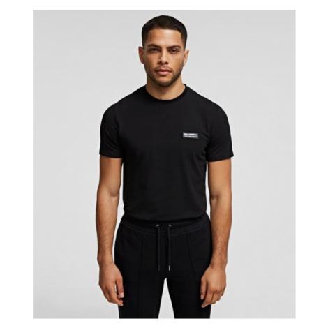 Rundhals-T-Shirt mit kleinem Aufnäher Karl Lagerfeld