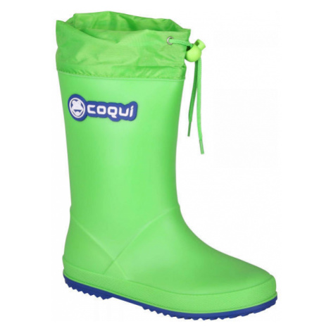 Coqui RAINY COLLAR grün - Kinderstiefel