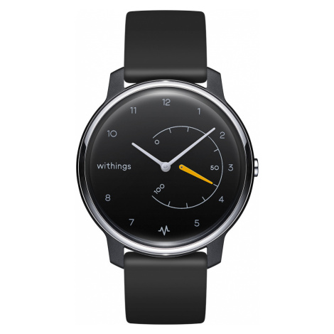 Withings Move ECG, 38mm, Schwarz & Gelb - Fitnessuhr mit EKG-Funktion - Offizieller Withings Sho
