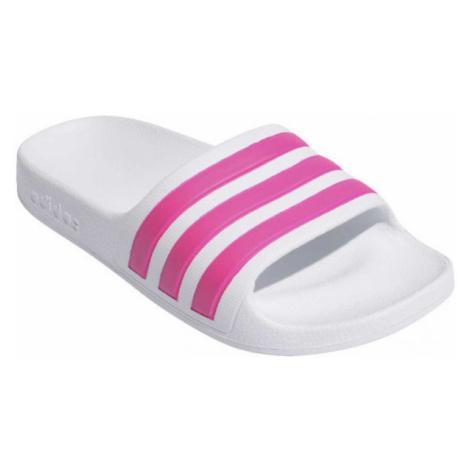 adidas ADILETTE AQUA K weiß - Kinder Adiletten