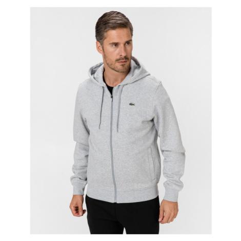 Lacoste Sport Hooded Lightweight Bi-material Sweatshirt Grau