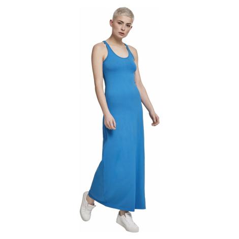 Urban Classics Kleid Damen LADIES LONG RACER BACK DRESS TB2601 Blau Hawaiianblue