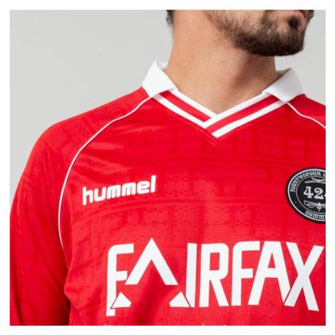 Hummel x 424 II Fairfax Jersey Long Sleeve Tee True Red