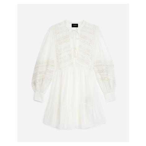 The Kooples - Kurzes Kleid weiß mit Spitzendetail - HERREN