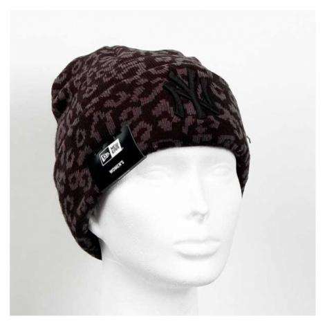 New Era Womens MLB Leopard Cuff Knit Black