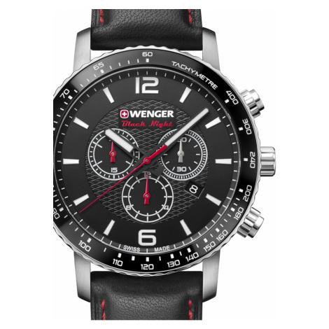 Wenger 01.1843.101 Roadster Black Night Chronograph 44mm 10ATM