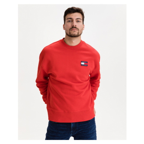 Tommy Jeans Badge Sweatshirt Rot Tommy Hilfiger