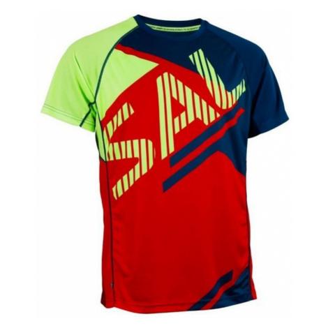 Herren T-Shirt Salming Bold Print Tee Red/Blue