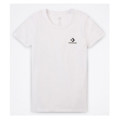 Converse STAR CHEVRON SMALL CHEST LOGO TEE weiß - Damenshirt