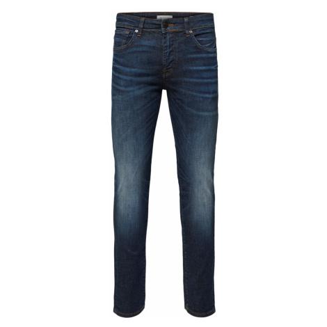 Selected Homme Herren Jeans Slhslim-Leon 6165 - Slim Fit - Blau - Dark Blue Denim
