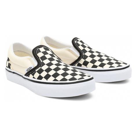 VANS Kinder Classic Slip-on Schuhe (4-8 Jahre) ((checkerboard) Black/white) Kinder Weiß
