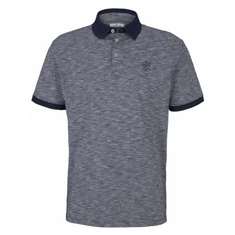 TOM TAILOR Herren Poloshirt mit Melange-Optik, blau