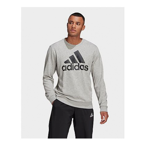 Adidas Essentials Big Logo Sweatshirt - Medium Grey Heather / Black - Herren, Medium Grey Heathe