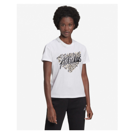 adidas Performance Leo Graphic T-Shirt Weiß