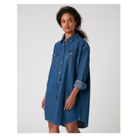 Wrangler Western Kleid Blau