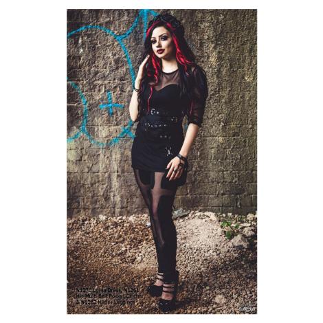 Damen Kleid Necessary Evil - Ruched Mesh Lyssa - N1270